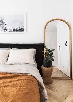 Home Interior Decoration .Home Interior Decoration Linen Bedroom, Home Bedroom, Bedroom Ideas, Mirrored Bedroom, Bedroom Inspo, Master Bedrooms, Mirror For Bedroom, Linen Bedding, Mirror Over Bed