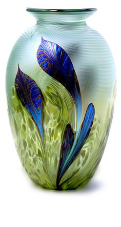 Seagrass Vase by Karinna Sellars - Inspired by the magical underwater world of the sea. Swirls of green, and turquoises are the canvas for seagrasses swaying in the ocean currents.