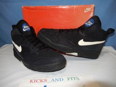 info for ff439 60f5f Nike Shoes Ultra Force Mid Sz 10 1993 94 130178 Black Regal Blue Vtg OG Box