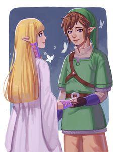 Link and Zelda from Skyward Sword