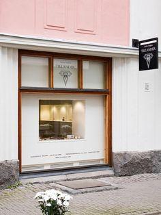 """jewely shop   """"atelier torbjörn tillander""""   oulu, finland   designed by joanna laajisto"""