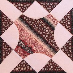 Ruthann's Freezer Paper On Top Method  for Hand Piecing Miniature Quilt Blocks
