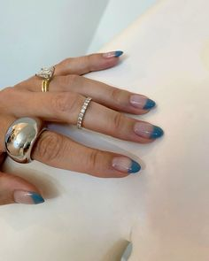 Simple Acrylic Nails, Summer Acrylic Nails, Simple Nails, Minimalist Nails, Short Gel Nails, Long Nails, Hair And Nails, My Nails, French Manicure Nails