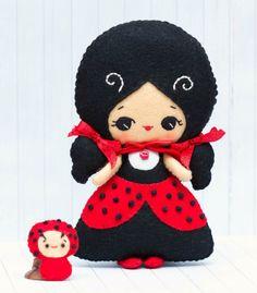 PDF Pattern. Ladybird fairy and babybug by Noialand on Etsy
