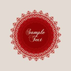 Red Ornament Vector Graphic FREE