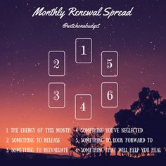 Tarot Spread: Monthly Renewal