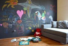Love the idea of chalkboard wall for children/grandchildren....encourages creativity and provides a place for it...
