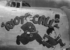 B-24+Nose+Art+|+Consolidated+B-24+Liberator+WW2+Nose+Art+--+Riot+Call