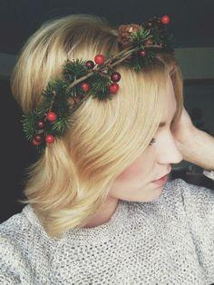 homemade winter crown.