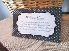 Darling Doodles: Welcome Guest Basket...with printables