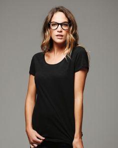 Semi-sheer feminine silhouette in body flattering tissue jersey. | @Bella + Canvas Ladies Tissue Jersey Short Sleeve T-Shirt - $9.18 | clothingshoponline.com #DIY #fashion #style #craft