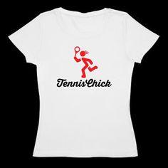 Women's tennis t shirt - TennisChick Logo