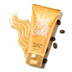 Perfectly Posh Hot and Gold Firming and Brightening Face Mask with colloidal gold and caffeine Gold Face Mask, Charcoal Face Mask, Colloidal Gold, Posh Products, Beauty Products, Peel Off Mask, Perfectly Posh, Clean Face, Skin Brightening