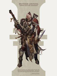 "inoxhammer: ""Grendal: Dark Heresy Warhammer 40k Assassin by David-Kegg http://david-kegg.deviantart.com/art/Grendal-Dark-Heresy-Warhammer-40k-Assassin-305118423 My Etsy Shop: https://www.etsy.com/shop/InoxHammer"""