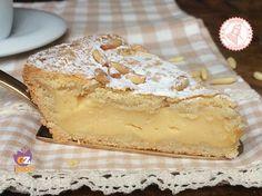 Grandmother's Tart (Torta della Nonna) Gourmet Desserts, Italian Desserts, Easy Desserts, Gourmet Recipes, Quiches, Pie Recipes, Sweet Recipes, Short Pastry, Italian Cake