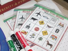 Printable Bingo Cards – Love the idea just for the reusable part...zip baggies!