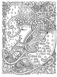 Adult Coloring Prayers to Color By Deborah Muller Inspirational Messages of Faith: Deborah Muller/Chubby Mermaid, Deborah Muller: 0635292811913: Amazon.com: Books