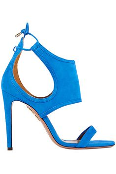 Aquazzura ~ Spring Suede Sandal Heel w Heel Zipper detail, Powderblue 2015 |╰☆╮ZPeacocks..╰☆╮