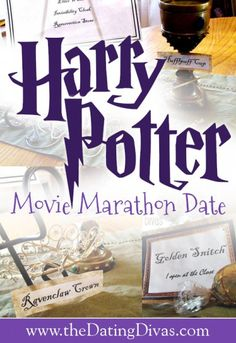 Harry Potter Movie Marathon- this would be fun to do around Halloween.  Such creative ideas!