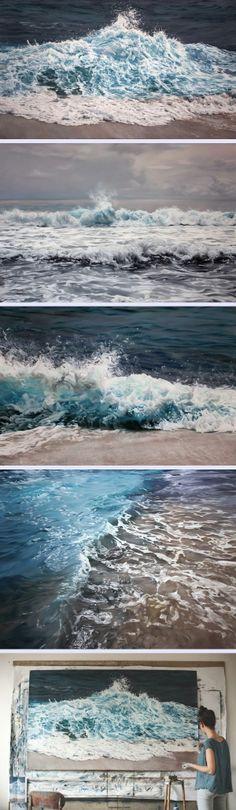 İnanılmaz Yağlı Boya Tablosu - Dalgalar (Zaria Forman) www.4finite.com