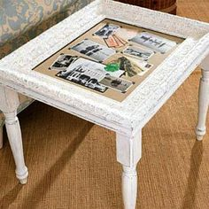 Picture frame crafts ideas using old picture frames in new ways. Ideas for recycling picture frames include making a table, loom, tray, earring or bow holder. Picture frame crafts for kids and adults. Picture Frame Table, Picture Frame Crafts, Old Picture Frames, Picture Frame Decorating Ideas, Furniture Projects, Furniture Makeover, Diy Furniture, Crafty Projects, Office Furniture