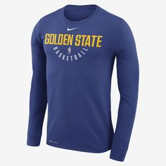 42ccb03c0 Golden State Warriors Nike Dry Men s Long Sleeve NBA T-Shirt