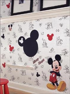 Mickey Mouse Disney wallpaper   151 different Disney prints! York Wallcoverings for Disney.  MouseTalesTravel.com