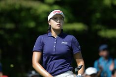 In-Gee Chun of South Korea plays a tee shot on the 2nd hole green during the final round of Japan Women's Open 2016 at the Karasumajo Country Culb on October 2, 2016 in Nasukarasuyama, Japan.