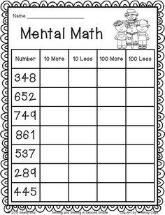 7 Mental Maths for Grade 2 Worksheets Mental Math Freebie grade math √ Mental Maths for Grade 2 Worksheets . 7 Mental Maths for Grade 2 Worksheets. Physical Education Activities, Math Activities, Math Education, Math Enrichment, 2nd Grade Classroom, Math Classroom, 2nd Grade Teacher, Maths 3e, Math Tutor