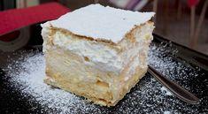 New Easy Cake : Cream of puff pastry. Simple and delicious recipe, Zucchini Parmesan Crisps, Bosnian Recipes, Torte Cake, Piece Of Cakes, Victoria Sponge, Cream Cake, Yummy Cakes, Vanilla Cake, Bakery