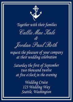 Classic Nautical Wedding Invitation
