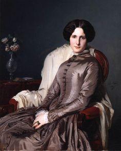 Jean-Hégésippe VETTER. Portrait de la comtesse de Bellefonds, 1849