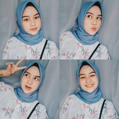 Image may contain: 4 people Casual Hijab Outfit, Ootd Hijab, Casual Outfits, Selfies, Selfie Poses, Selfie Ideas, Hijab Style Tutorial, Hijab Makeup, Islamic Girl