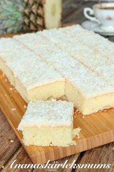 Ananaskärleksmums – Lindas Bakskola Swedish Recipes, Sweet Recipes, Chocolate Sweets, Pan Dulce, Bagan, Sweet Bread, No Bake Desserts, No Bake Cake, Love Food