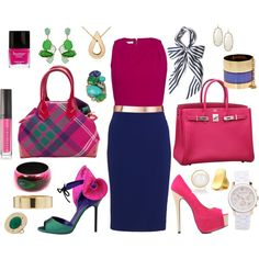 Navy played up!, created by rolz on Polyvore