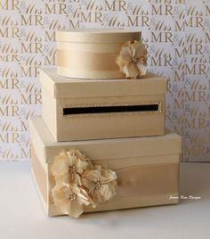 Wedding Card Box Money Box Gift Card Holder by jamiekimdesigns