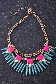 Exotic Acrylic chain necklace.  Visit: www.2chiqueboutique.com