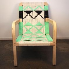 Macrame palapa lounge chair. Maker: Pacific Wonderland, Los Angeles http://pacificwonderlandinc.wordpress.com/ #americanmade