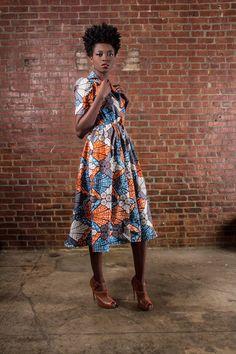 DemestiksNewYork NEW The Portia Dress- African Print 100% Holland Wax Cotton Midi Dress ~Latest African Fashion, African Prints, African fashion styles, African clothing, Nigerian style, Ghanaian fashion, African women dresses, African Bags, African shoes, Nigerian fashion, Ankara, Kitenge, Aso okè, Kenté, brocade. ~DK