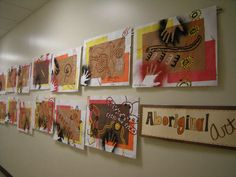 grade Artolazzi: Helen Keller Elementary Art Show! (love the titles for each section in the style of the art) Helen Keller, Hand Kunst, Kunst Der Aborigines, Art Education Projects, Animal Art Projects, Aboriginal Art, Aboriginal Education, Aboriginal Culture, 4th Grade Art