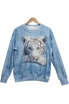 Lovely Tiger Graphic Sweatshirt - OASAP.com