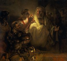 Rembrandt Paintings | The denial of Peter - Rembrandt - WikiPaintings.org