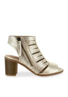 Easy Street Gold Metallic Karlie Sandal