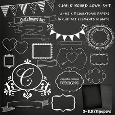 Chalkboard Frames and Paper Set