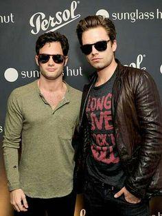 1b23ad65af Penn Badgley and Sebastian Stan Steve Mcqueen Sunglasses
