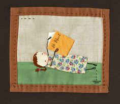 Summer Reading Little Quilt [Shelece / Etsy]  *we own three of Shelece's mini-quilts + her work is beautiful