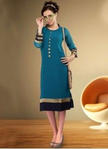 Exotic Faux Georgette Party Wear Kurti