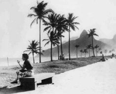 #travelcolorfully ipanema beach, rio de janeiro, brazil. 1950's