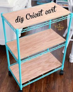 3 Shelf Utility Storage Cart - Room Essentials™ - Storage Cart - DIY Home decor Craft Room Storage, Craft Organization, Craftroom Storage Ideas, Diy Vinyl Storage, Scrapbook Room Organization, Scrapbook Storage, Easy Arts And Crafts, Arts And Crafts Projects, Space Crafts