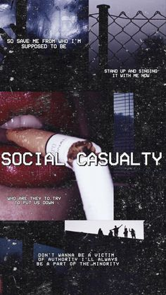 I don't wanna be another social causality